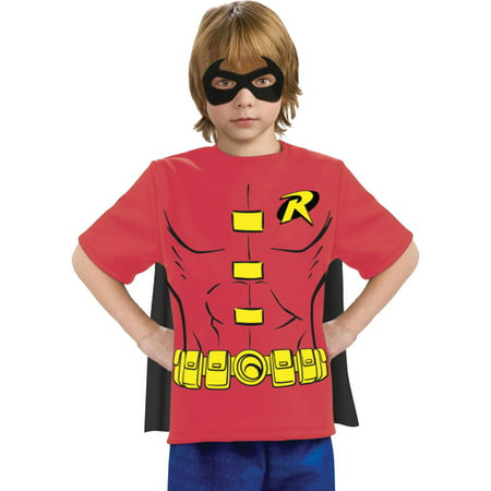 Robin Shirt Mask with Cape Child Halloween Costume - Robin Costume Mask