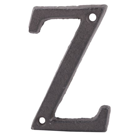 Street Cast Iron Z Shaped Vintage Style Door Letter Alphabet Sign Label Black - image 5 of 5