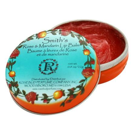 Mandarin Lip Balm - Rosebud Perfume Co. Smith's Rose & Mandarin Lip Balm, 0.8 oz.
