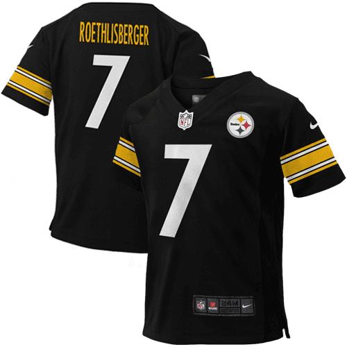 Ben Roethlisberger Pittsburgh Steelers Nike Infant Team Color Game Jersey - Black