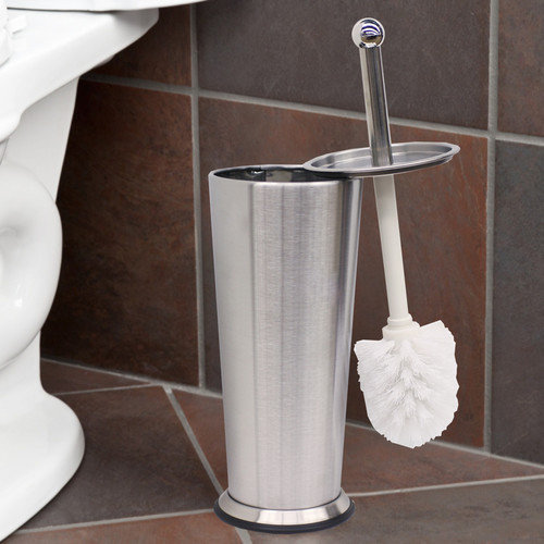 Sweet Home Collection Tapered Free Standing Toilet Brush and Holder