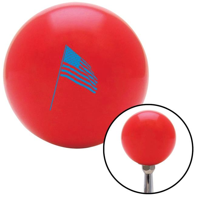 American Shifter 78721 Blue Metal Flake Shift Knob with M16 x 1.5 Insert White Military EOD