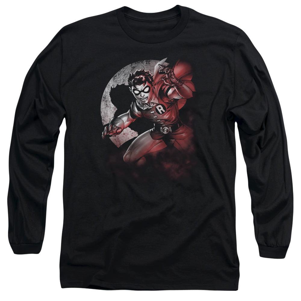 BATMAN/ROBIN SPOTLIGHT - L/S ADULT 18/1 - BLACK - XL - Walmart.com