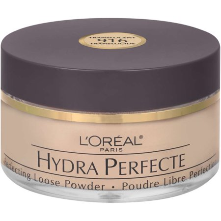 L'Oreal Paris Hydra Perfecte Perfecting Loose Face Powder, Translucent, 0.5 oz. (Dead White Face Powder)