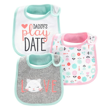 Child Of Mine By Carter's Bibs, 3-pack (Baby Girls)