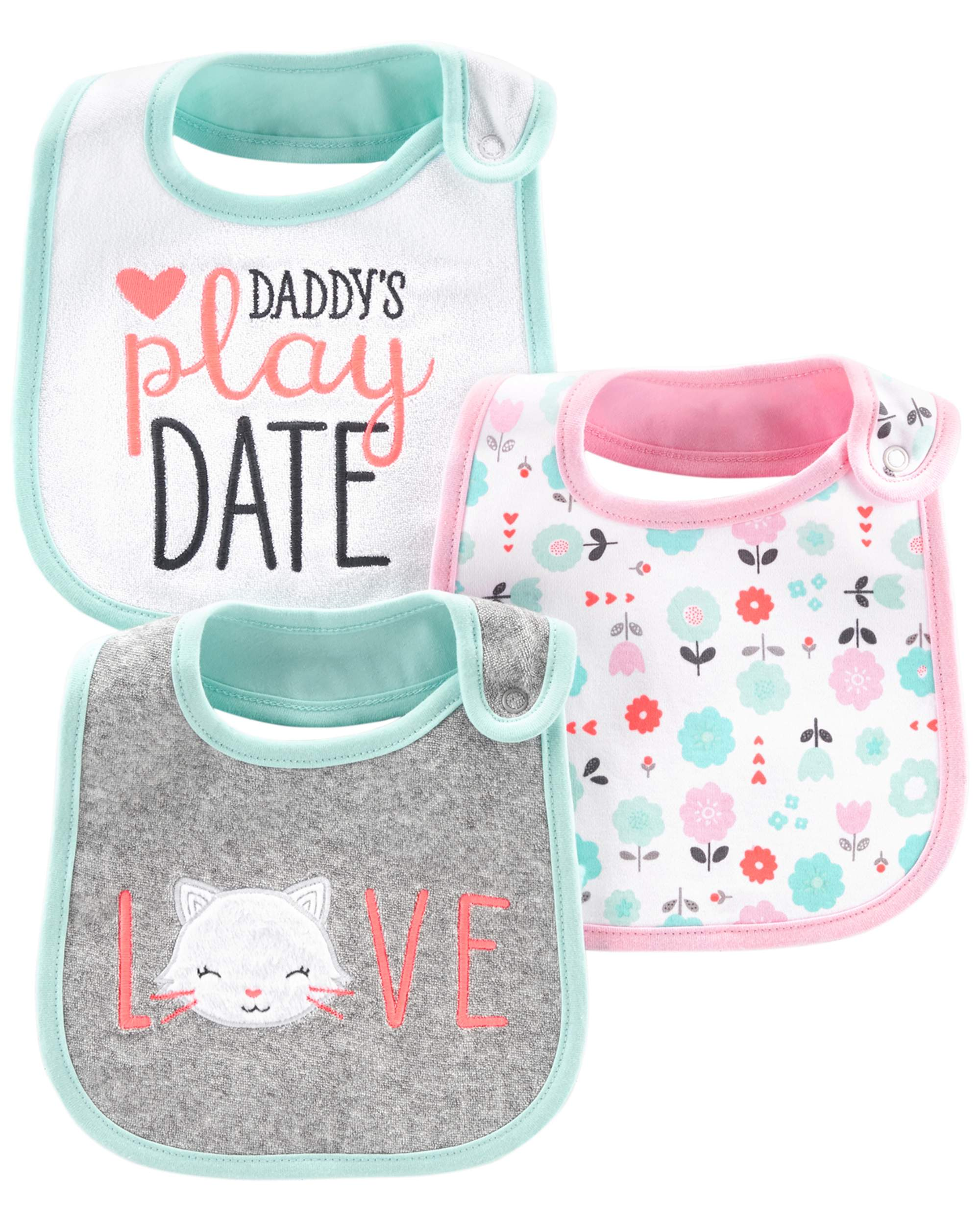 Bibs, 3-pack (Baby Girls)