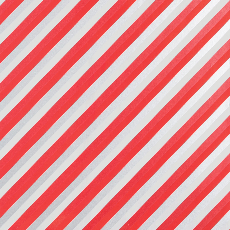 "Jillson & Roberts Bulk Gift Wrap, Sweet Stripe, 1/4 Ream 208' x 24"""