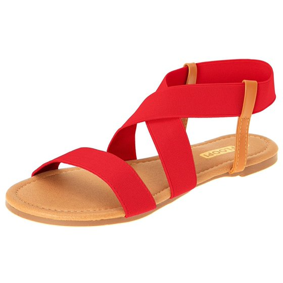 60f44d14a30 Floopi - Womens Summer Flat Sandals Open Toe Elastic Ankle Strap ...