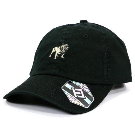 Mack Bulldog Logo Heavy-Washed Strapback Dad Hat](Mack Truck Hats)