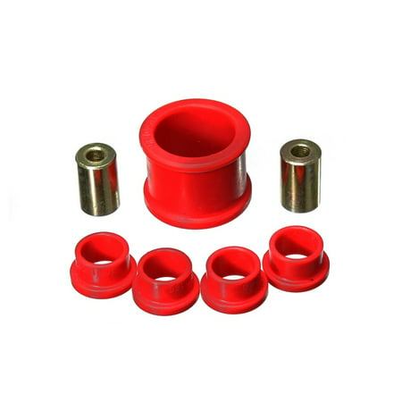 Energy Suspension 06-11 Honda Civic Si Red Power Steering Rack Bushing Set