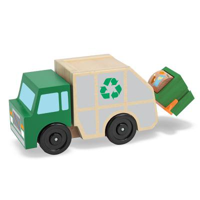 Melissa & Doug Garbage Truck Wooden Vehicle Toy (3
