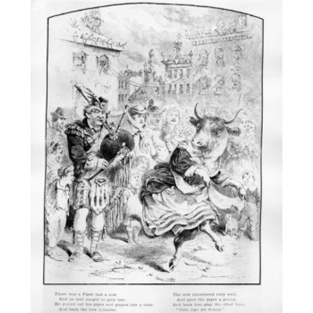 There Was A Piper Had A Cow From Riverside Magazine For Young People Vol I 1867 Canvas Art     18 X 24