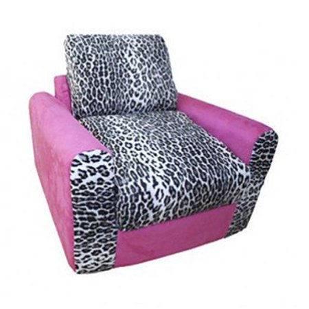 Pink Leopard Chair Sleeper ()