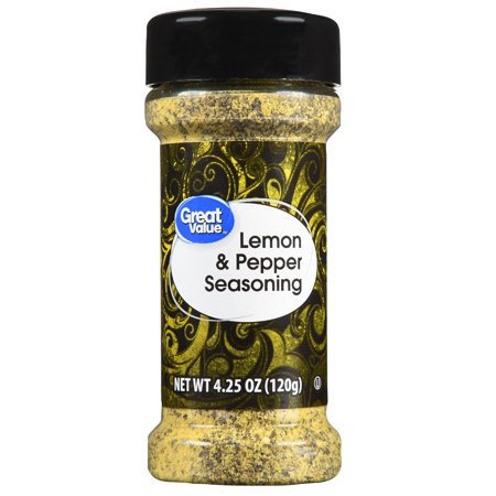 Lemon Asiago - (2 Pack) Great Value Lemon & Pepper Seasoning, 4.24 oz