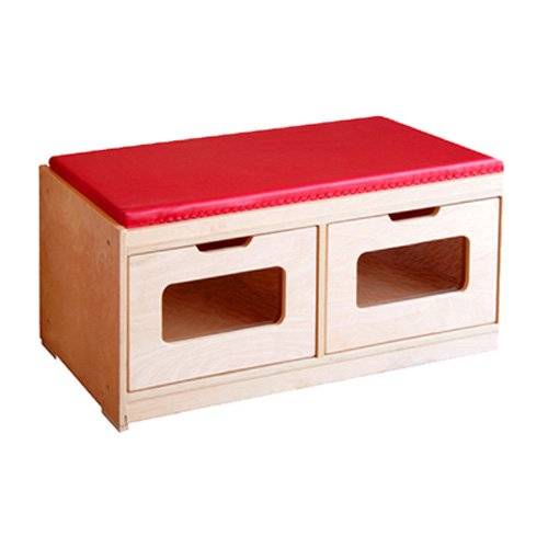A+ Childsupply Bench Storage Unit 2 Drawer by A  Child Supply