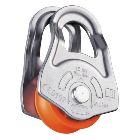 Oscillante Pulley One Size, Swing-sided pulley for emergency use By Petzl (Petzl Rescue Pulley)