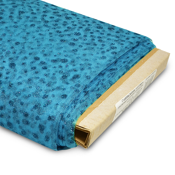 """Expo Int'l 54"""" Glitter Dots Polyester Tulle Fabric- 25 yard bolt"""