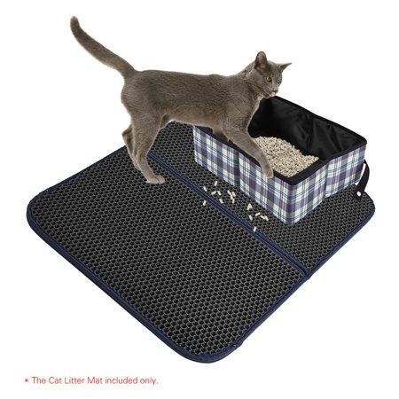 Rubber Litter - Premium Cat Litter Trapper Mat Pad Larger Honeycomb with Waterproof Base Layer EVA Foam Rubber 72 * 55cm / 28 * 22in