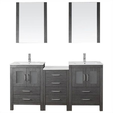 Virtu Dior 66 39 39 Double Bathroom Vanity Set With Mirror