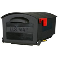 Gibraltar Mailboxes Patriot Large, Plastic, Post Mount Mailbox, Black, GMB515B01