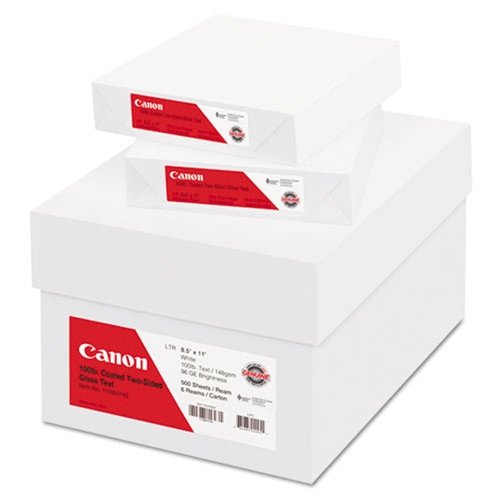 Canon 1128V743 Coated Two-sided Gloss Text Paper, 8-1/2 X...