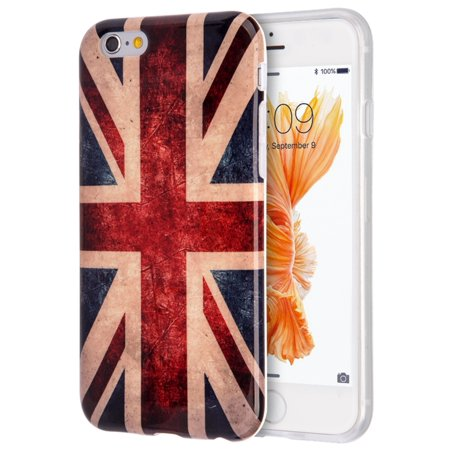 Insten Patriotic Vintage Flag Series Imd TPU Rubber Skin Gel Case For Apple iPhone 6 / 6s - United Kingdom - Halloween Series Imdb