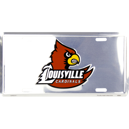 Louisville Cardinals Deluxe Silver Novelty License Plate by - Costume Shop Louisville