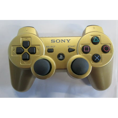 Refurbished Sony OEM Metallic Gold PS3 Dualshock 3 Wireless Controller For PlayStation 3 ()