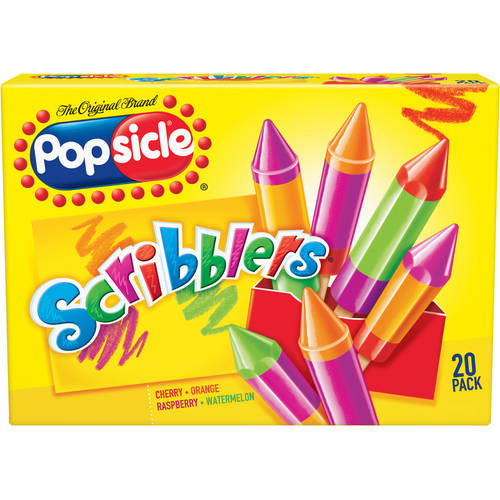Popsicle Scribblers Assorted Flavors 1.2 oz Ice Pops, 24 ct
