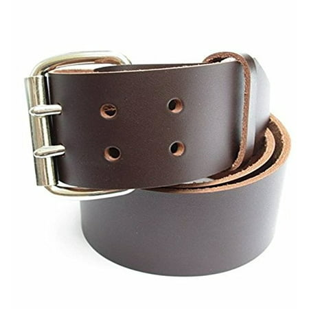 Heavy Brown Leather (Mens Heavy Duty Brown Leather Work/Tool Belt 2
