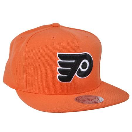 dc22d993d9c Authentic Mitchell Ness NHL Hockey Philadelphia Flyers Team Logo Snapback  Hat - Walmart.com