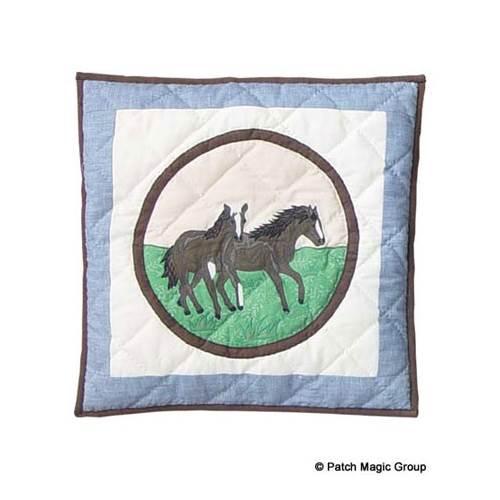 Horse Friends Toss Pillow