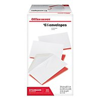 Office Depot All-Purpose Envelopes, #6 3/4 (3 5/8in. x 6 1/2in.), White, Box Of 500, 78105