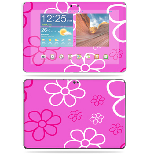 "Skin Decal Wrap for Samsung Galaxy Tab 10.1 Tablet 10"" Flower Power"