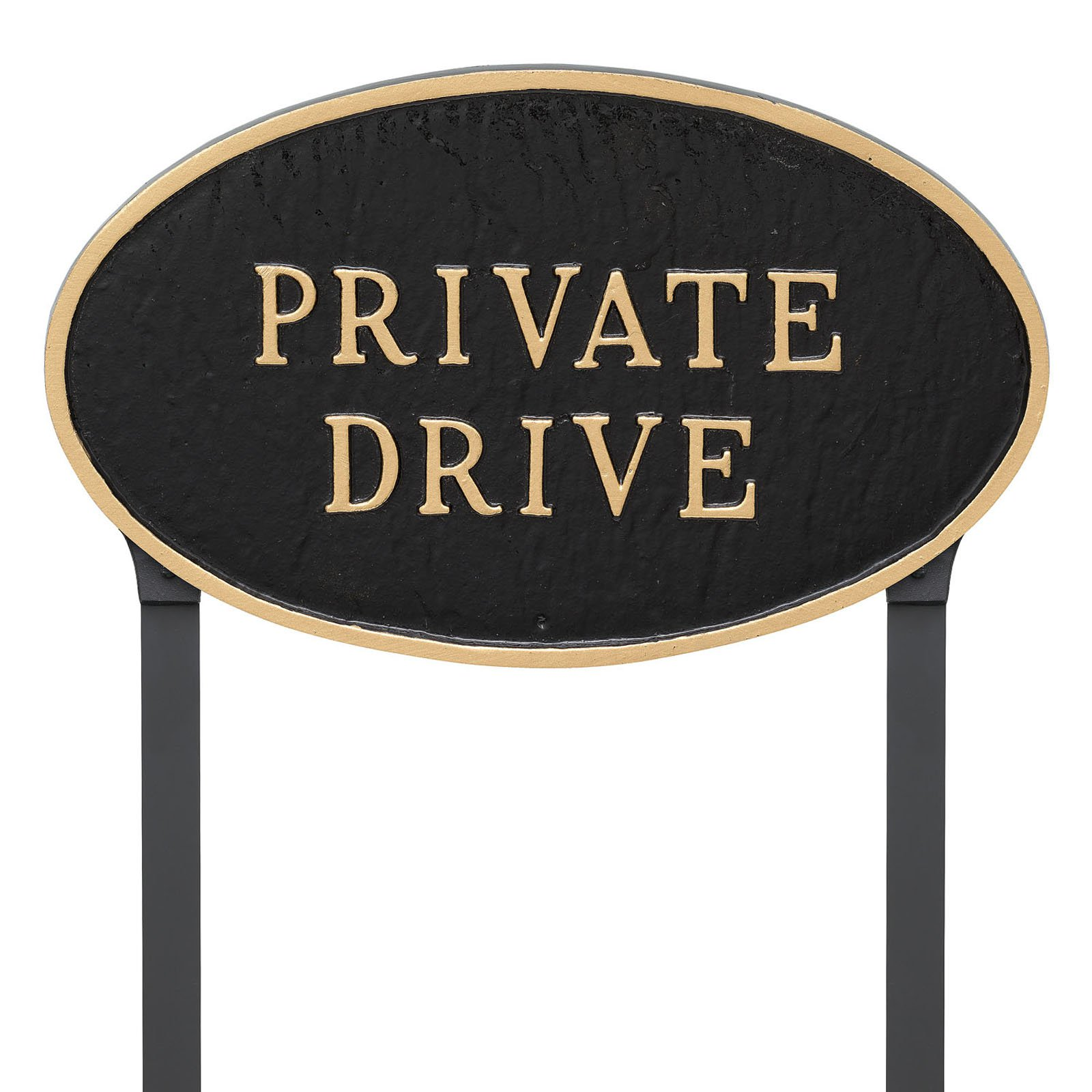 Montague Metal Products Private Drive Oval Lawn Plaque