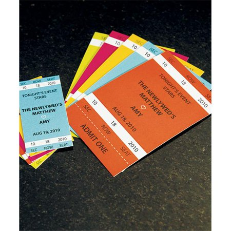 Weddingstar 8876-79 Sport Themed Drink Tickets- Small- Mocha Mousse for $<!---->