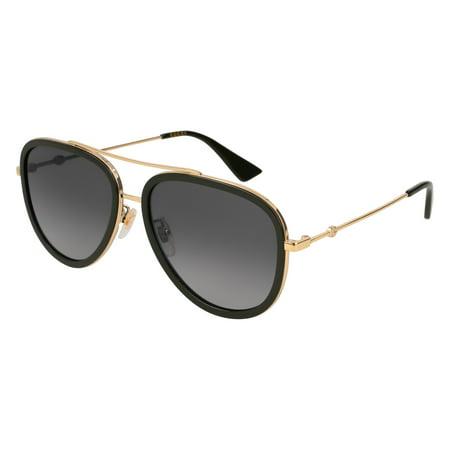Gucci Grey Gradient Aviator Sunglasses GG0062S 011 (Gucci Com Sunglasses)