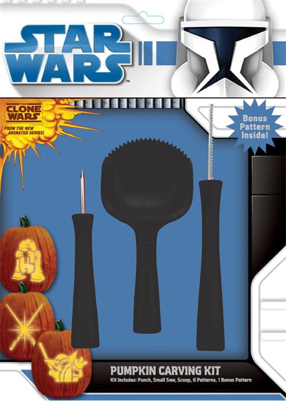 Star Wars Pumpkin Carving Kit Halloween 4 Tools 6 Patterns 1 Bonus Pattern