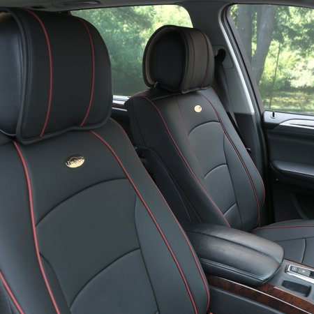 car suv van pu leather seat cushion covers front buckets 5 colors with dash mat. Black Bedroom Furniture Sets. Home Design Ideas
