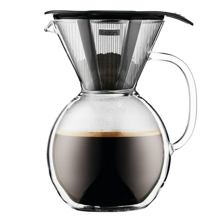 Bodum POUR OVER Coffee maker with glass handle, 1.0L, 34oz,