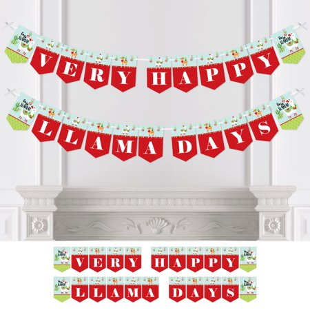 Fa La Llama - Christmas Holiday Party Bunting Banner - Party Decorations - Very Merry Llama Day (Very Merry Christmas Party Button)