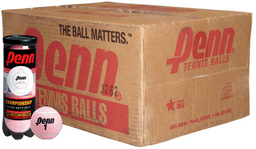 Click here to buy Championship Pink Tennis Balls Case by Penn.