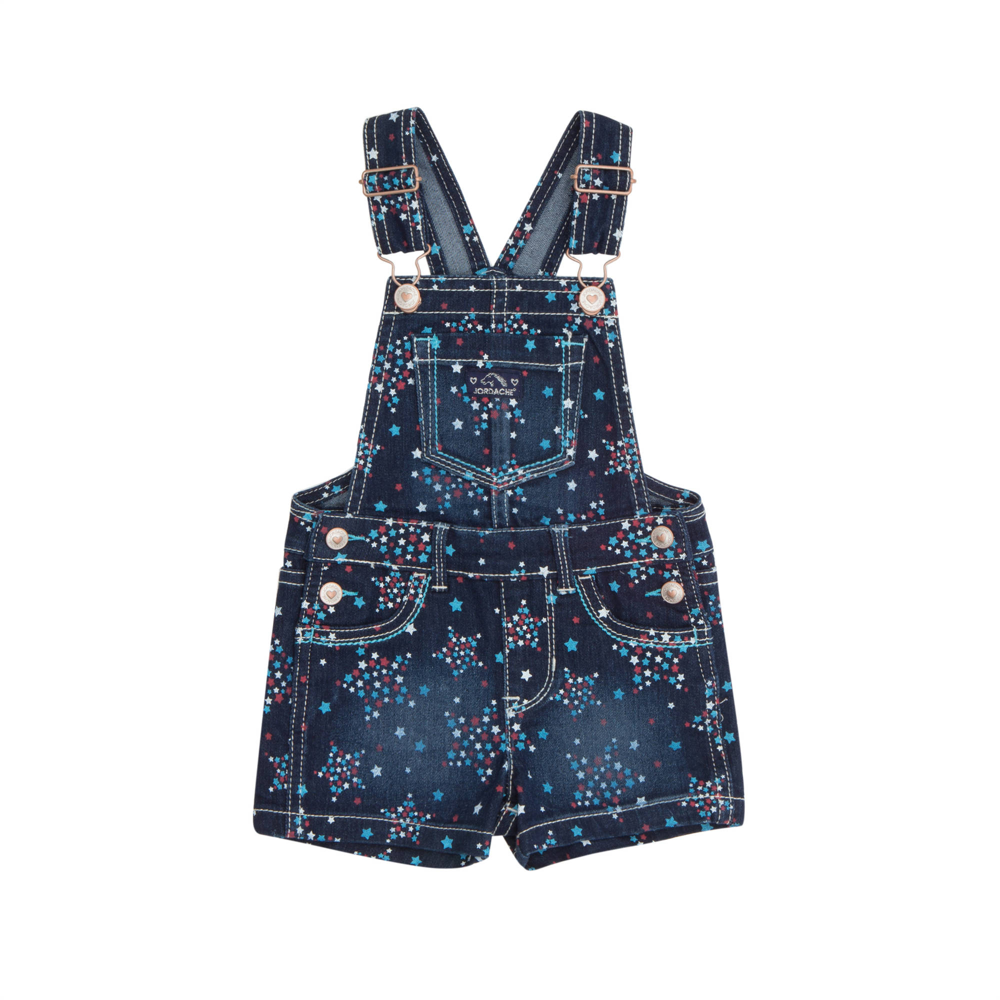 Baby Toddler Girl Americana Denim Short Overalls