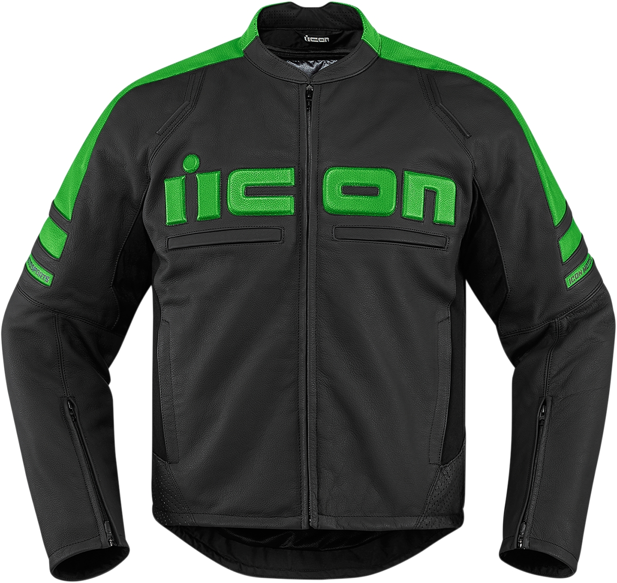 Icon Motorhead 2 Leather Jacket Stealth 3X  2810-3265