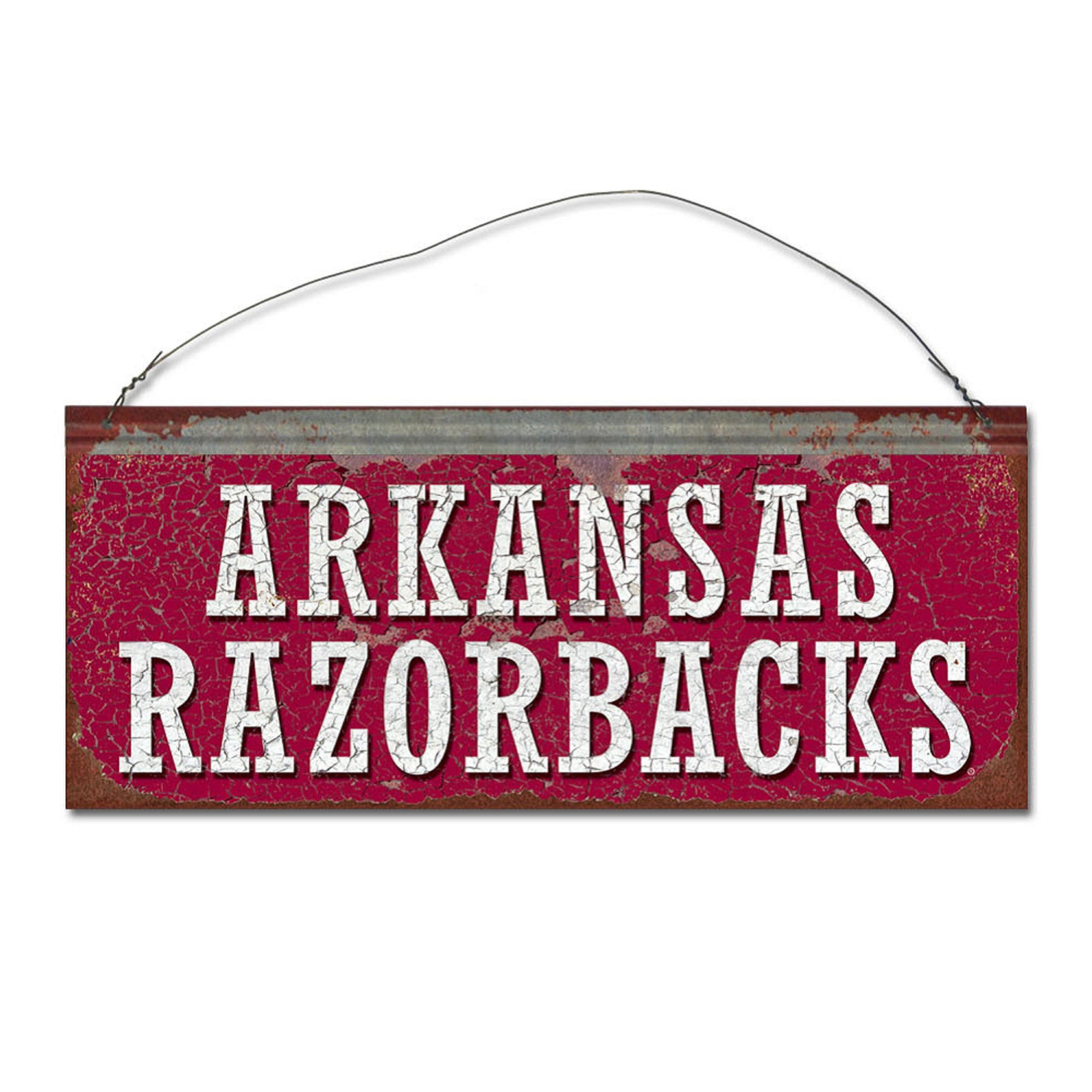 University of Arkansas Razorbacks Small Tin Sign
