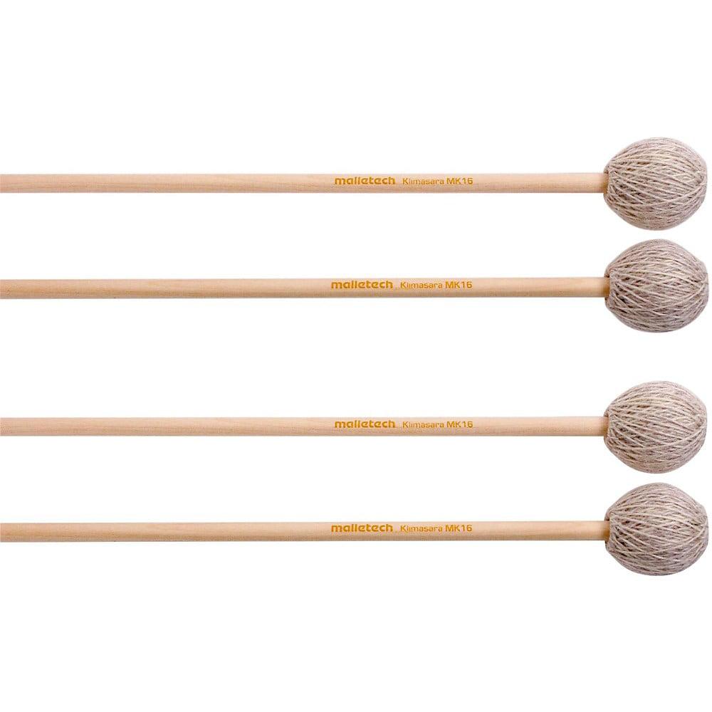 Malletech Klimasara Marimba Mallets Set of 4 (2 Matched Pairs) Medium Hard 16 by Malletech