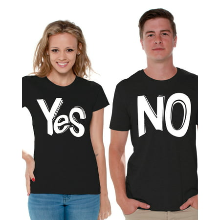 Ideas For Couples At Home (Awkward Styles Funny Couple Shirts Couple Matching Shirts Yes No Matching Shirts for Couples Valentine Gift Ideas for Couples Gift for Boyfriend Girlfriend Happy Valentines Day Couple Matching)