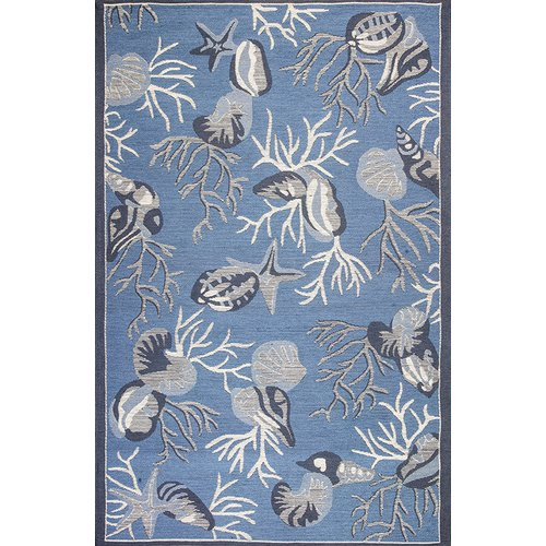 Red Barrel Studio Sealy Blue Outdoor Area Rug by