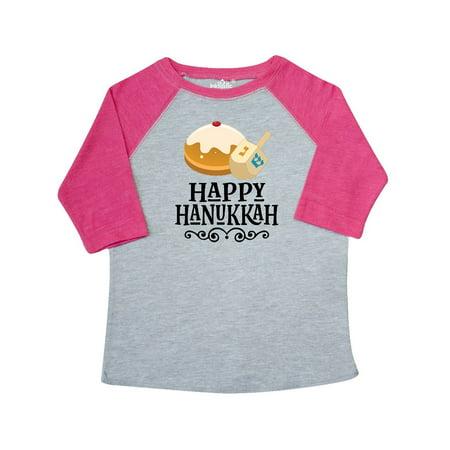 (Happy Hanukkah Dreidel Donut Toddler T-Shirt)