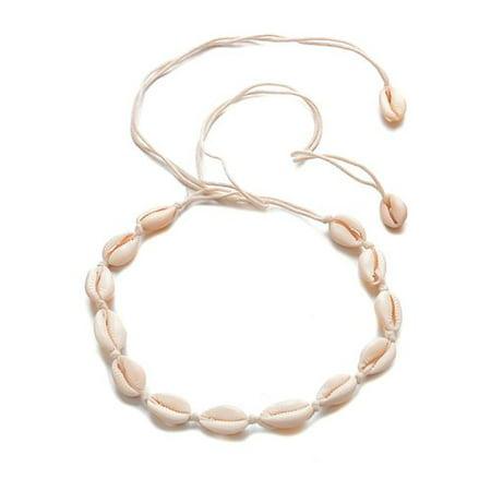 KABOER Stylish Shell Choker Beach Bohemian Seashell Necklace  Pendant Chain Choker Necklace Fashion Jewelry Shell Fashion Pendant